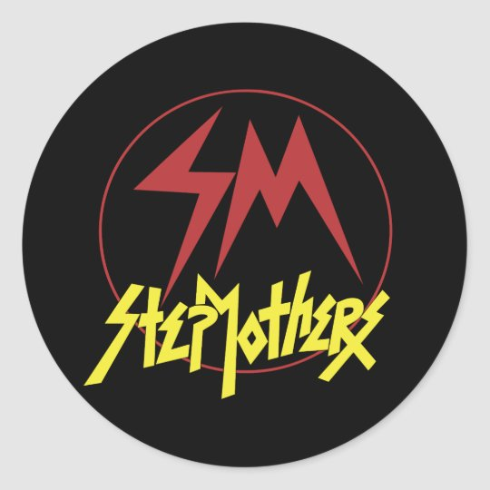 Retro Stepmothers Classic Round Sticker
