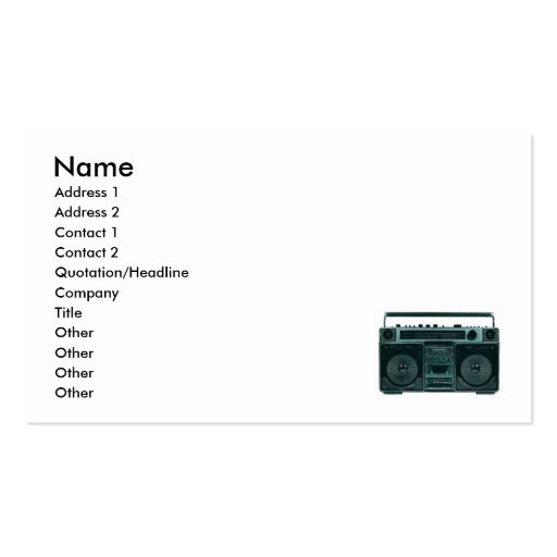 retro stereo business business cards