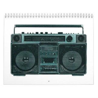 retro stereo calendar