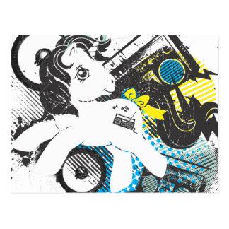 Retro Stereo Design Postcard