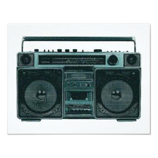 """retro stereo invitation 4.25"""" x 5.5"""" invitation card"""