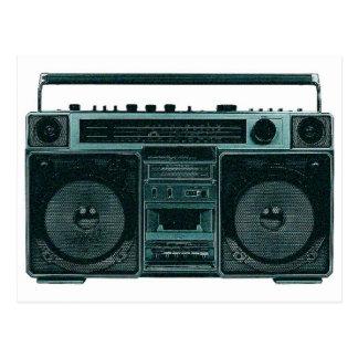 retro stereo post card