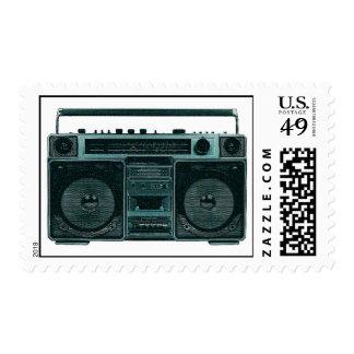 retro stereo stamp