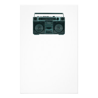 retro stereo stationery