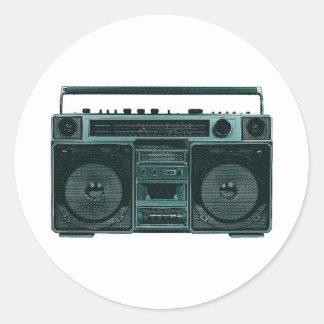 retro stereo sticker