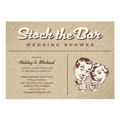 retro stock the bar party invitations 5 u0026quot  x 7 u0026quot  invitation