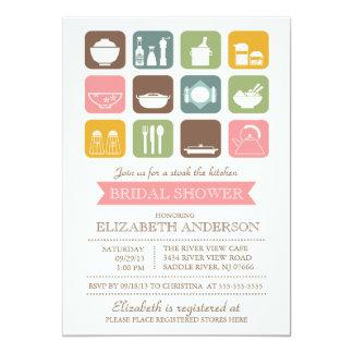 "Retro Stock the Kitchen Bridal Shower Invitation 5"" X 7"" Invitation Card"