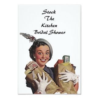 Retro Stock The Kitchen Bridal Shower Invitations