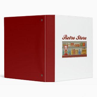 Retro Store 3 Ring Binder