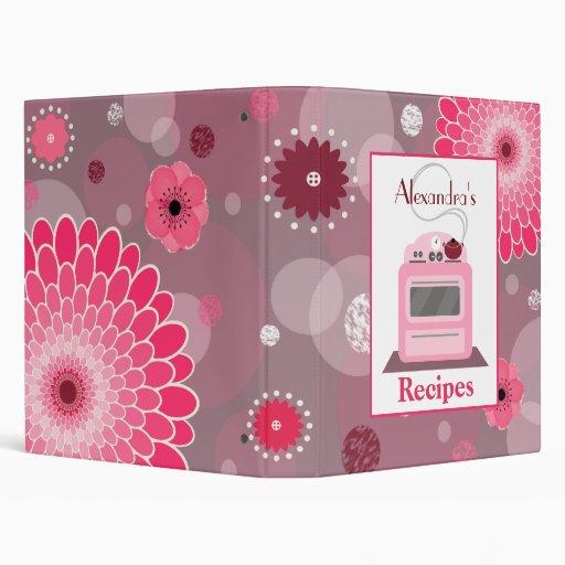 Retro Stove Flowers & Dots Recipe Binder