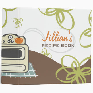 Retro Stove / Modern Kitchen Recipe Book Binder