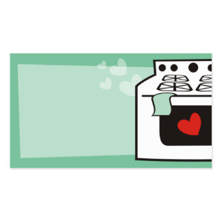 retro stove oven chef baker business card