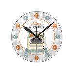 Retro Stove Personalized Kitchen Clock