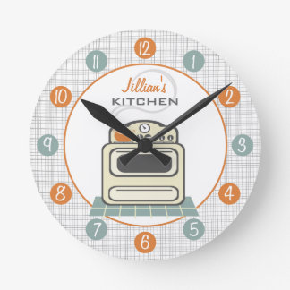 Retro Stove Personalized Kitchen Clock