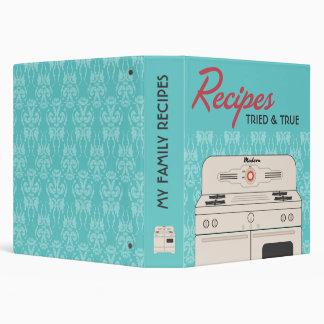 Retro Stove Recipe 3 Ring Binders