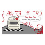 Retro Stove Red Kitchen Caterer / Chef Business Card Templates