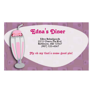 Retro Strawberry Milkshake Double-Sided Standard Business Cards (Pack Of 100)
