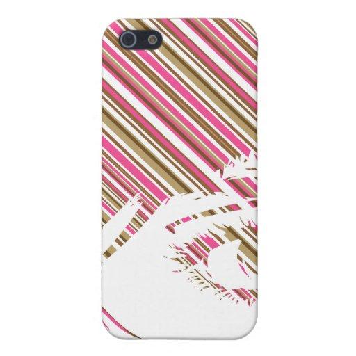 Retro Stripe Girls Face iphone Case iPhone 5 Cover
