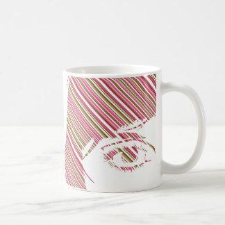 Retro Stripe Girls Face Mug