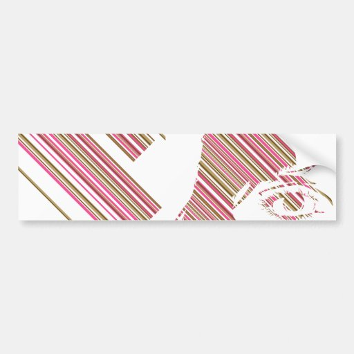 Retro Stripe Girls Face Sticker
