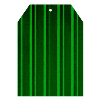 Retro Stripe Green Personalized Announcements