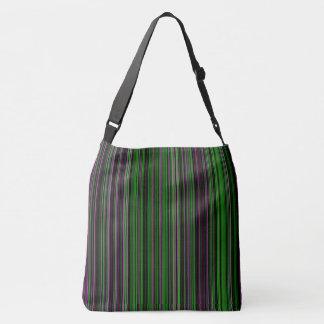 Retro stripe lime green purple shoulder bag