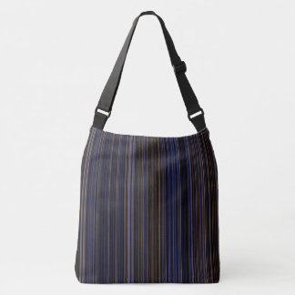 Retro stripe purple  blue brown shoulder bag