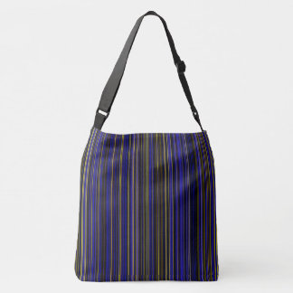 Retro stripe purple yellow blue brown shoulder bag