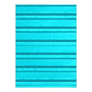 Retro Stripe Teal Turquoise Aqua Grunge Invites