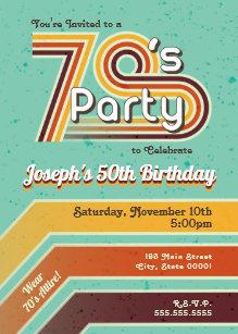retro party invitations zazzle