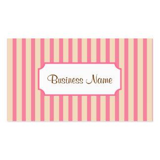 Retro Striped Business Card