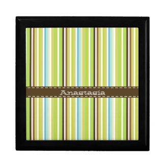 Retro striped Gift Box