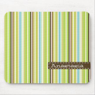 Retro striped mousepad