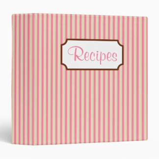 Retro Striped Recipe Binder