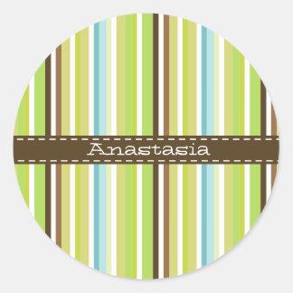 Retro striped Sticker