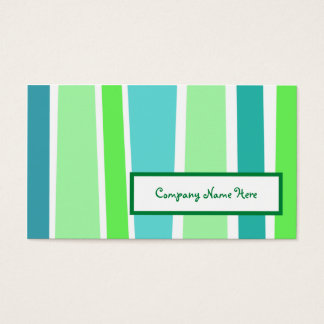 retro stripes : 2-sided : business card