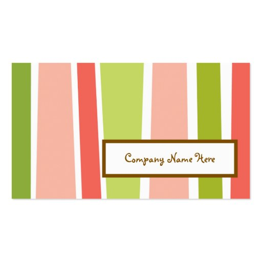 retro stripes 2 sided business card