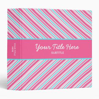 Retro Stripes binder