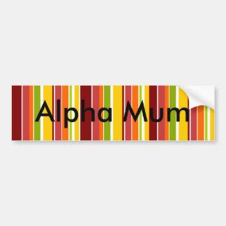 Retro Stripes Bumper Sticker
