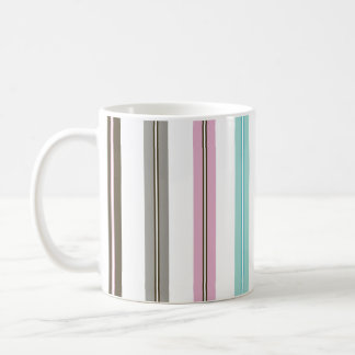 Retro Stripes Classic White Classic White Coffee Mug