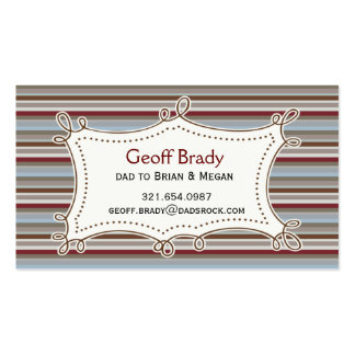 Retro Stripes Daddy Card Double-Sided Standard Business Cards (Pack Of 100)