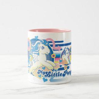 Retro Stripes Design Two-Tone Coffee Mug