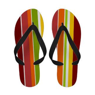 Retro Stripes Flip Flops