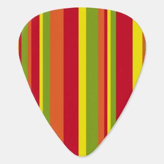 Retro Stripes Guitar Pick