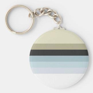 Retro Stripes Keychain