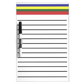 Retro Stripes Lined Dry Erase Board