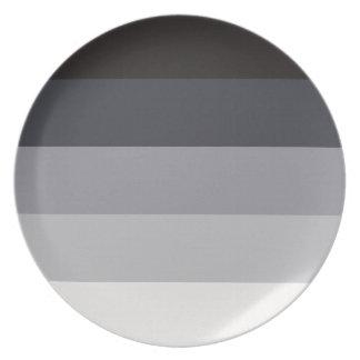 Retro Stripes Melamine Plate