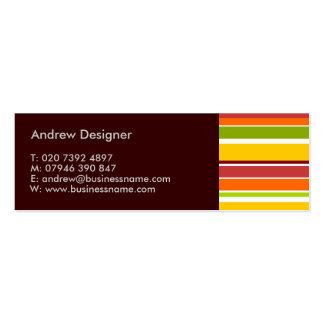 Retro Stripes Mini Business Card