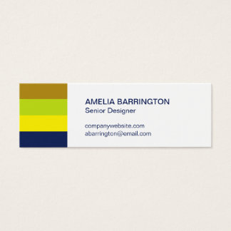Retro stripes navy creative professional small mini business card