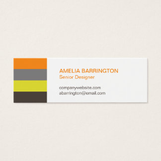 Retro stripes orange creative professional small mini business card